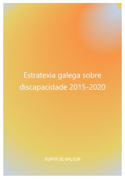 Estratexia galega sobre discapacidade